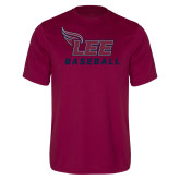 Performance Maroon Tee-Baseball
