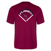 Performance Maroon Tee-Flames Baseball Diamond