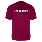 Performance Maroon Tee-Lee Flames Soccer Half Ball
