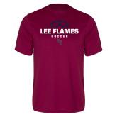 Performance Maroon Tee-Lee Flames Soccer Half Ball