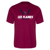 Performance Maroon Tee-Lee Flames Cross Country Wings