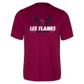 Performance Maroon Tee-Lee Flames Cross Country Wings