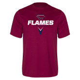Performance Maroon Tee-Flames Lacrosse Geometric Stick Head