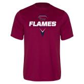 Performance Maroon Tee-Flames Lacrosse Geometric Stick Head