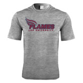 Performance Grey Heather Contender Tee-Flames Lee University
