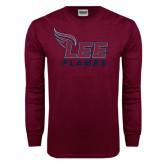 Maroon Long Sleeve T Shirt-Official Logo