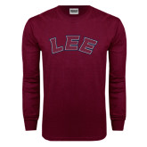 Maroon Long Sleeve T Shirt-Arched Lee