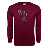 Maroon Long Sleeve T Shirt-L Flame