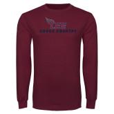 Maroon Long Sleeve T Shirt-Cross Country