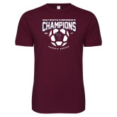 Next Level SoftStyle Maroon T Shirt-Womens Soccer Champions