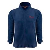 Fleece Full Zip Navy Jacket-Flames Lee University