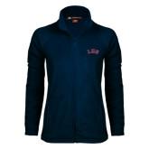 Ladies Fleece Full Zip Navy Jacket-Arched Lee