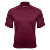 Maroon Textured Saddle Shoulder Polo-Flames Lee University