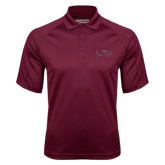 Maroon Textured Saddle Shoulder Polo-Arched Lee