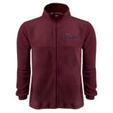 Fleece Full Zip Maroon Jacket-Flames Lee University