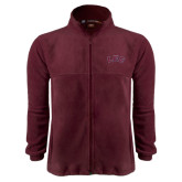 Fleece Full Zip Maroon Jacket-Arched Lee