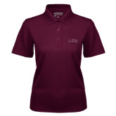 Ladies Maroon Dry Mesh Polo-Arched Lee