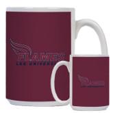 Full Color White Mug 15oz-Flames Lee University