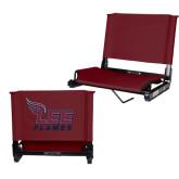 Stadium Chair Maroon-Official Logo