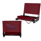 Stadium Chair Maroon-Flames Lee University