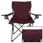 Deluxe Maroon Captains Chair-Flames Lee University