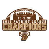 Large Decal-2017 Patriot League Football Champions