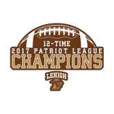 Small Decal-2017 Patriot League Football Champions