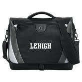Slope Black/Grey Compu Messenger Bag-Flat Lehigh