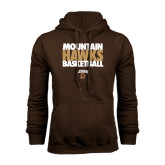 Brown Fleece Hoodie-Mountain Hawks Basketball