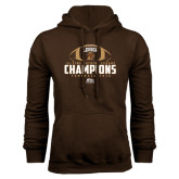 Brown Fleece Hood-11-Time Patriot League Champions Football 2016
