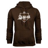 Brown Fleece Hoodie-2017 Patriot League Softball Champions