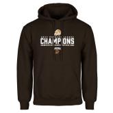 Brown Fleece Hoodie-2017 Patriot League Football Champions