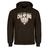 Brown Fleece Hoodie-2017 Patriot League Football Champions 2