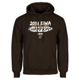 Brown Fleece Hoodie-2018 EIWA Wrestling Champions
