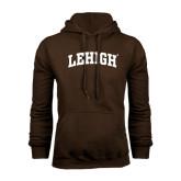 Brown Fleece Hoodie-Arched Lehigh
