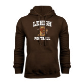 Brown Fleece Hoodie-Football