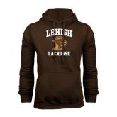 Brown Fleece Hoodie-Lacrosse