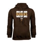 Brown Fleece Hoodie-Mountain Hawks Wrestling