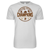 Next Level SoftStyle White T Shirt-2019 Mens Soccer Champions