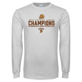 White Long Sleeve T Shirt-2017 Patriot League Football Champions