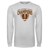 White Long Sleeve T Shirt-2017 Patriot League Football Champions 2