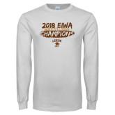 White Long Sleeve T Shirt-2018 EIWA Wrestling Champions