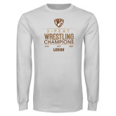 White Long Sleeve T Shirt-2020 Wrestling Champs