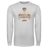 White Long Sleeve T Shirt-2020 Wrestling Champs