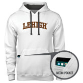 Contemporary Sofspun White Hoodie-Arched Lehigh