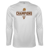 Performance White Longsleeve Shirt-2017 Patriot League Football Champions
