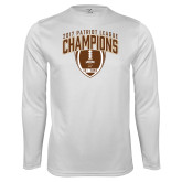 Performance White Longsleeve Shirt-2017 Patriot League Football Champions 2