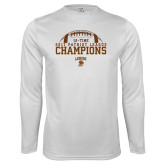 Performance White Longsleeve Shirt-2017 Patriot League Football Champions 4