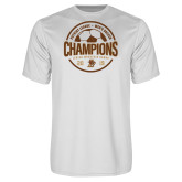 Performance White Tee-2019 Mens Soccer Champions