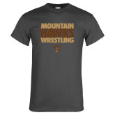Charcoal T Shirt-Mountain Hawks Wrestling